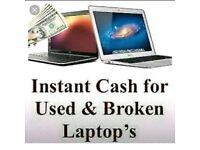 Cash paid for broken/faulty laptops/pcs