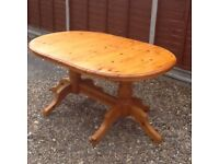 Chunky pine dining table