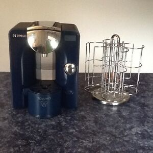 Tassimo coffee maker with pod stand