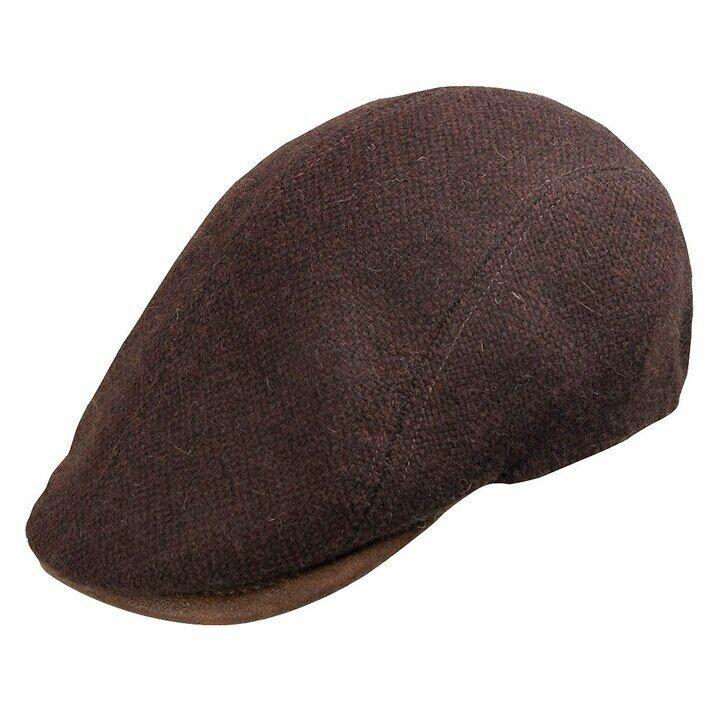 Bigalli Boston Maroon Wool Ivy Cap (m)