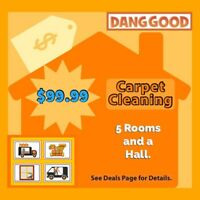 $99.99 Carpet Cleaning by Dang Good. Taking Pride in your Home.