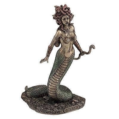 Medusa sculpture figure collectible home decor bronze finish snake body form Bronze Sculptures Home Decor
