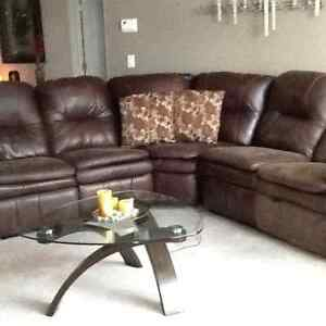 Sectional with Two Recliners!