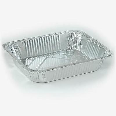 100 1/2 Half Size (9x13)  Deep Aluminum Foil Steam Table Pan Disposable Trays