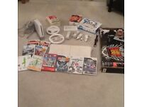 Nintendo wifi with board, controllers and many games