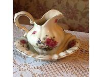Large wash bowl and jug