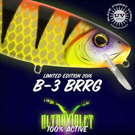 Brand New Ultraviolet Hybrida Lures B-3 BRRRG Twitchbait 20cm, 80 g