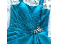 Bridesmaid/Prom dress in Turkish blue