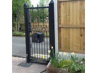 Large set gates complete with spacers and judas gate manually operate or can be rewired to remote