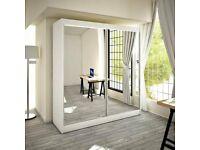 🎣 NEW BERLIN 2&3 SLIDING DOORS WARDROBE IN 120,150,180,203 & 250cm SIZES & IN MULTI COLORS🎣