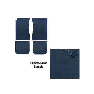 1965 1973 ford mustang pony rubber floor mat set blue ebay for 1965 ford mustang floor mats