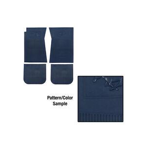 1965 1973 ford mustang pony rubber floor mat set blue ebay for 1965 mustang floor mats