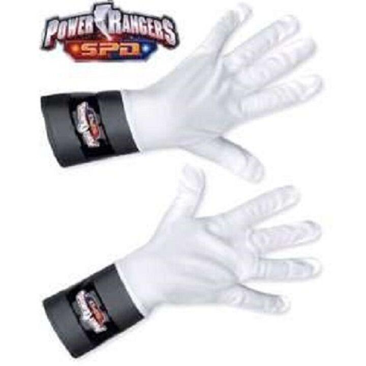 Power Rangers SPD White Ranger Gloves New for Costume Red Blue or Pink Childs