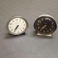Vintage Art Deco Westclox Big Ben Wind Up Alarm Clock Lot of 2 Model 2 53647 USA