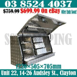 4 Drawers 2.5mm Aluminium Full Side Open Toolbox 1220x505x705