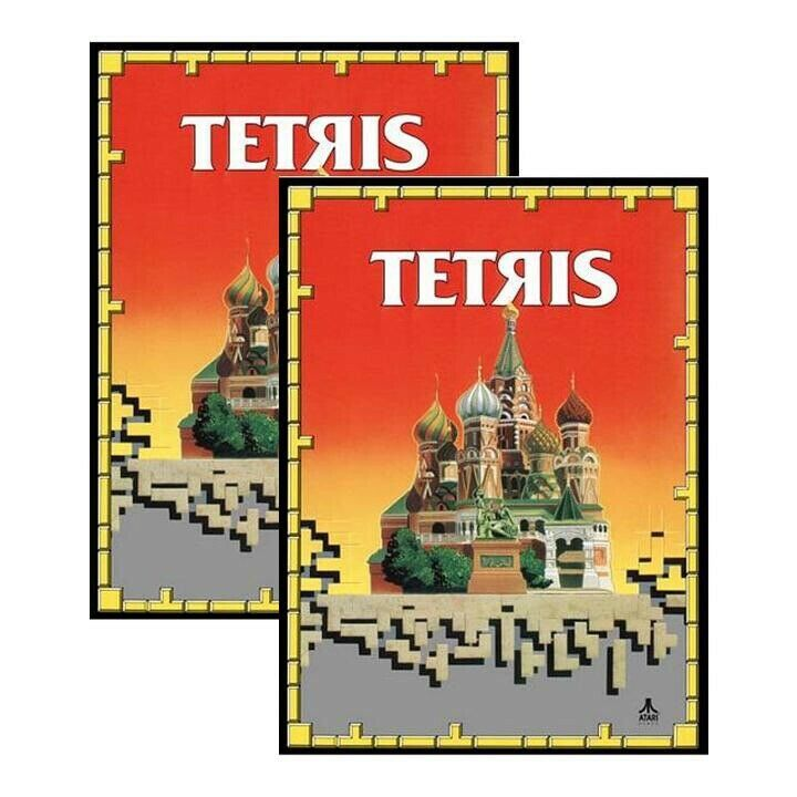 Tetris Arcade Side Art decal 2pc set Laminated Contour Cut High Quality