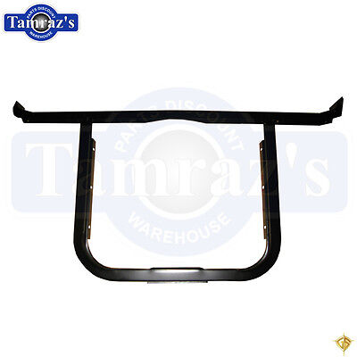 57 CHEVY BEL AIR RADIATOR CORE SUPPORT TOP PLATE CHROME CS13-57TC
