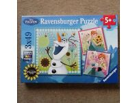 Frozen Jigsaw Puzzles (Ravensburger) - 3 in one box