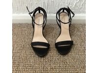 Black glittery shoes size 6 strappy