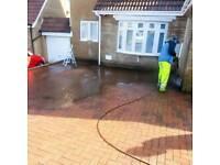Presherwashing/jet washing driveways roofs service