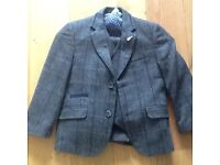 Boys tweed three piece suit wedding outfit 6 years