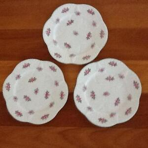 """Shelley Dainty """"Rosebud"""" Bread and Butter Plate x 3 Taren Point Sutherland Area Preview"""