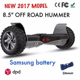 BLACK FRIDAY SPECIAL - BRAND NEW HUMMER HOVERBOARD WITH BLUETOOTH SPEAKER -- SWEGWAY