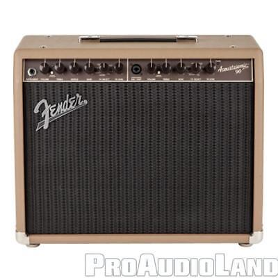 "Fender Acoustasonic 90 Solid-State Acoustic Amp 8"" Speaker 90W 2 Channel NEW"