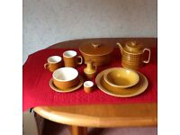 Selection of Hornsea Saffron dining china