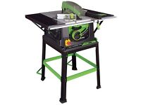 Table saw as new used once, cuts wood, metal, concrete etc