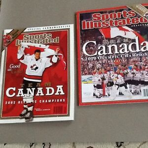 HOCKEY : Sports Illustrated 2002 & 2010 Commemorative Issues