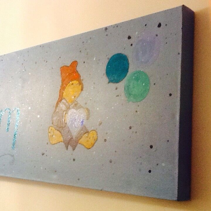 Baby personalised canvas hand painted to your design