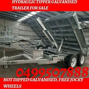 Brand new hydraulic tipper 8×5tandem axle trailer