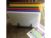 Colour coded catering chopping boards