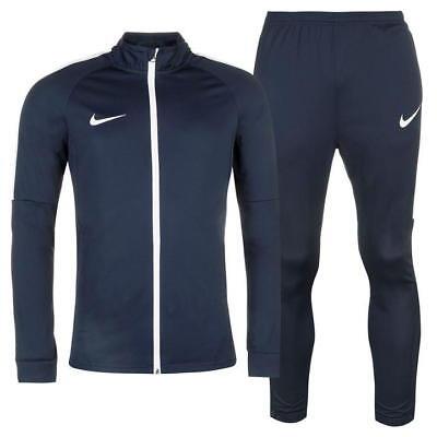 ✅ NIKE Academy Herren Trainingsanzug Sportanzug Jogginganzug Jacke Hose Blau (Yoga Jacke Blau)