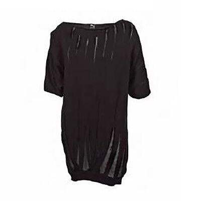 Women's PUMA x HUSSEIN CHALAYAN Drape Knit Dress Black size S $128