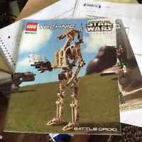 Lego Technic Star Wars Battle Droid Instructions ONLY(reduced)