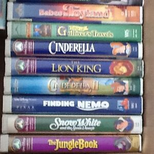 Walt Disney Movies VHS Excellent Condition Deal A+