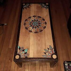 Restored, free hand design coffee table