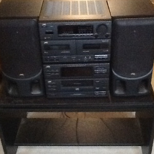JVC stereo and tapes