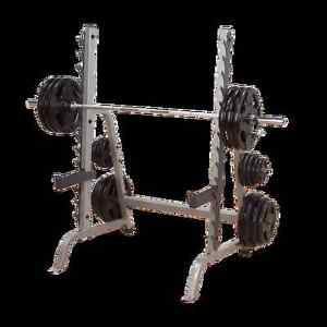 Body Solid squat rack without bar and weights.