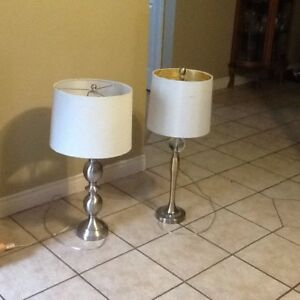 2 (Different) End Table Lamps