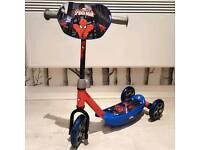 Spideeman 3 wheel scooter NEW