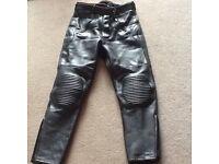 Buffalo leather motorbike trousers