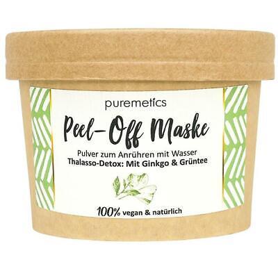 Peel-Off Maske Thalasso Detox - Ginkgo & Grüntee - Puremetics zero waste vegan