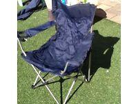 Blue canvas garden chair
