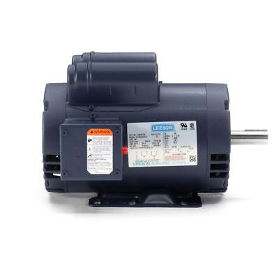 120554.00 Leeson 5hp Compressor Motor Usa 3450rpm 230v 1ph 145t 78120554