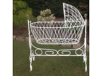 Victorian Cast Iron And Brass Rocking Cradle
