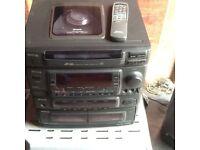 AIWA 3 cd 2 cassette stereo hi fi system 1990,s