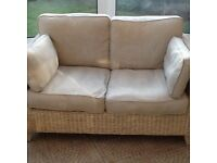 Conservatory Sofa - wicker style plus stool and table